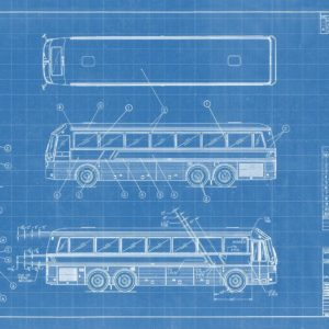 Eagle Model 15 Seated Coach Blueprint Wall Art