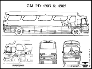 GM PD 4903 & 4905 Line Drawings Collection